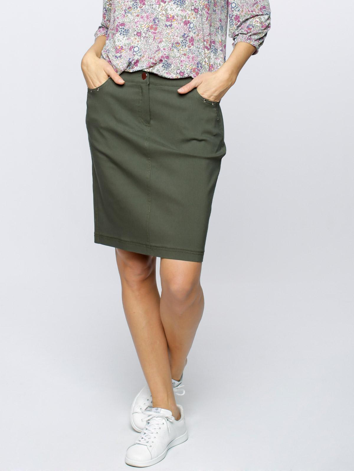 Jupe courte poches rivets