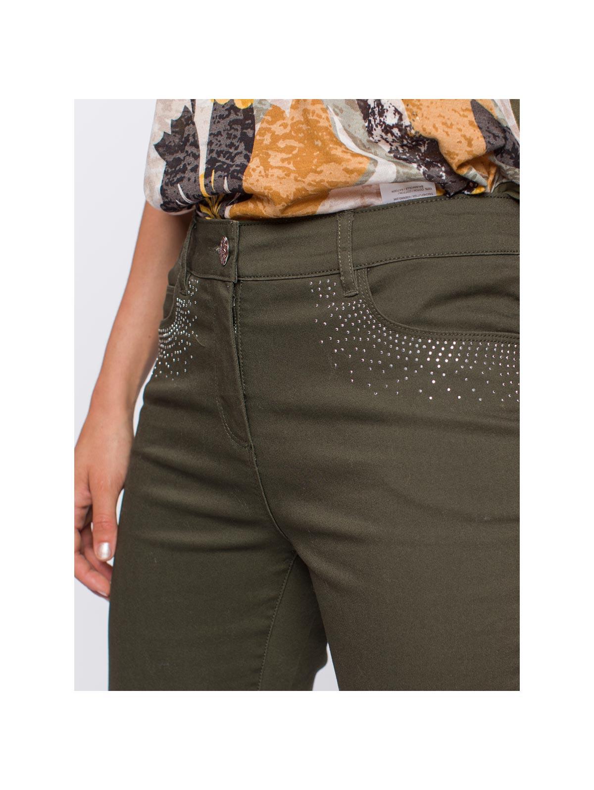 Pantalon twill poches strass - maboutiqueplus