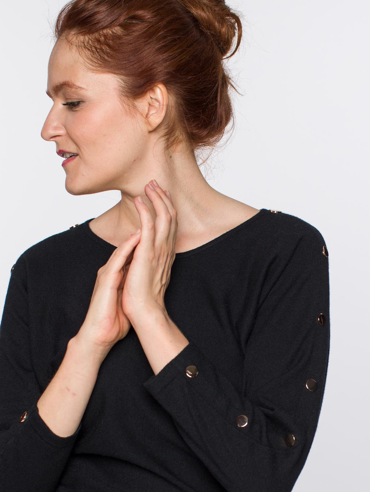 Pull manches chauves-souris pressions - maboutiqueplus