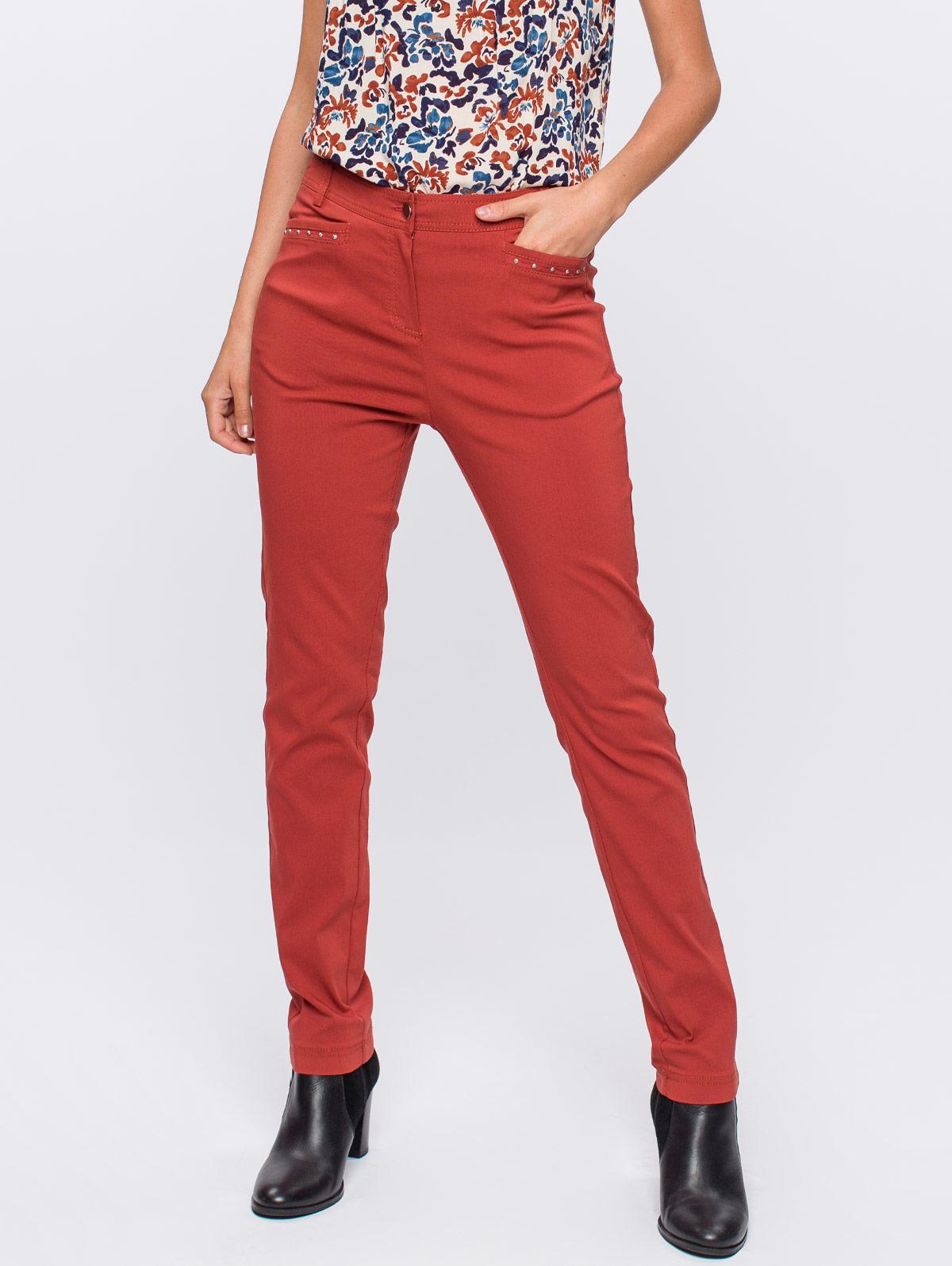 Pantalon bengaline clous poches - maboutiqueplus