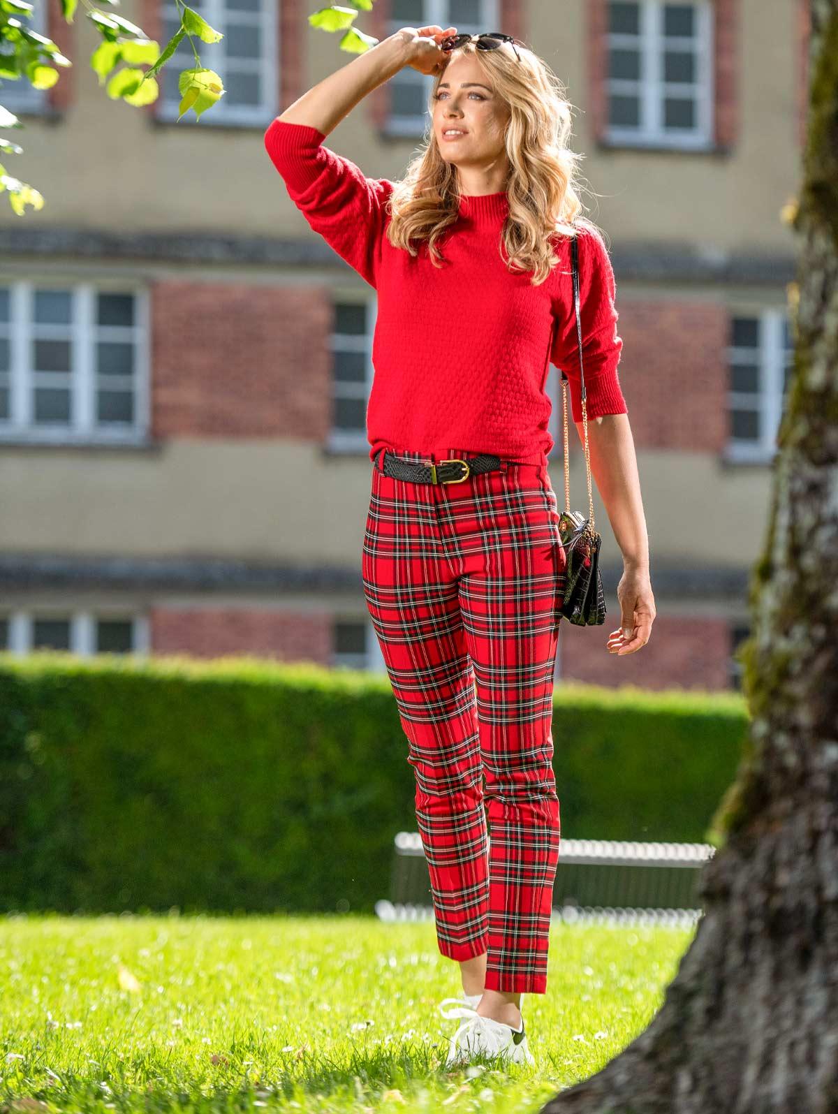 Pantalon carreaux rouge - maboutiqueplus